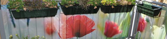 balkondoek bloemen